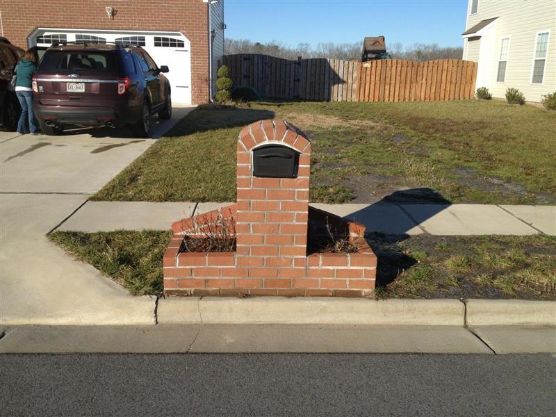 Brick Mailbox With Planter Designs brick mail boxes, brick planters va ...